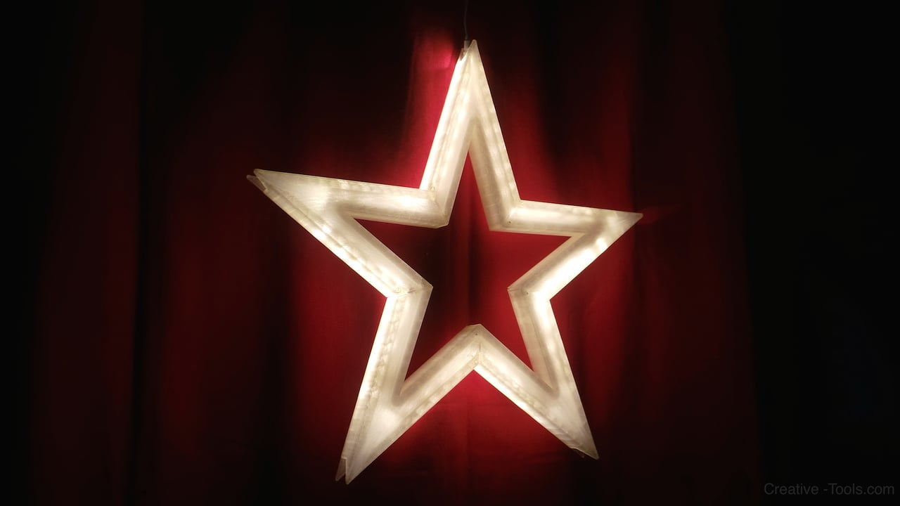 Vega – The 3D-printed LED lit Xmas Star