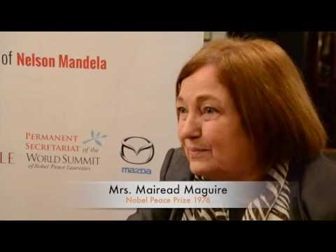 Mairead Maguire  – Entire world Summit of Nobel Peace Laureates 2014