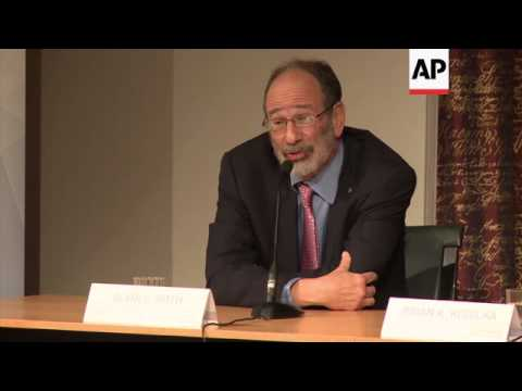 Nobel Laureates in Physics, Chemistry and Financial Sciences hold briefing