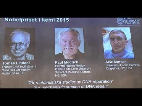 Turkish-American scientist among winners of 2015 Nobel Prize in Chemistry