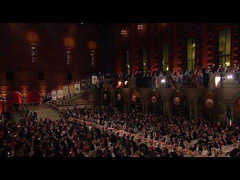 Evening Banquet Held after Nobel Prize Awards Ceremony in Stockholm
