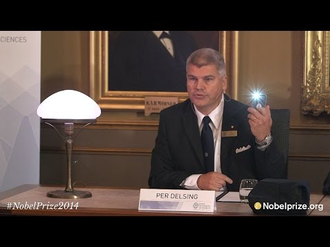 Are living: Announcement of the Nobel Prize in Physics 2014