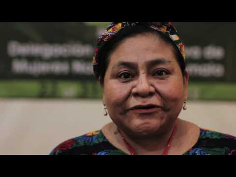Nobel Peace Prize Winner Rigoberta Menchu Greets the Nobel Women's Initiative 2012