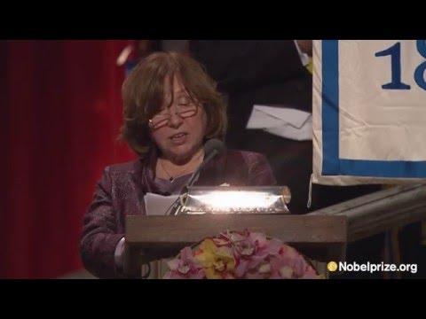 """This award honors their struggling."" Svetlana Alexievich, Nobel laureate in Literature 2015"