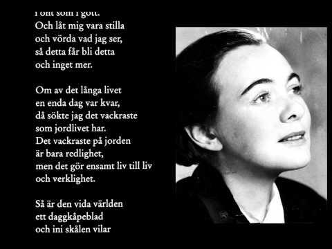"""Önskan"" – Karin Boye (Previous Swedish Poem with English translation)"
