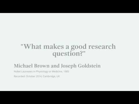 What makes a excellent exploration dilemma? Michael Brown, Nobel Laureate