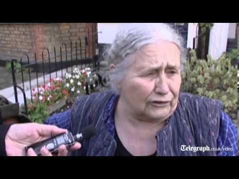 Novelist Doris Lessing reacts to winning the Nobel Prize