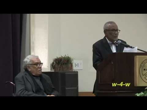 Nobel Laureate DEREK WALCOTT Awarded DuBois Award @ Black Writers Convention