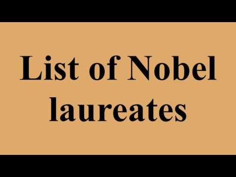 Record of Nobel laureates