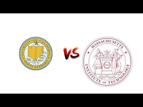 Compare University OF CALIFORNIA, SANTA BARBARA vs. MIT