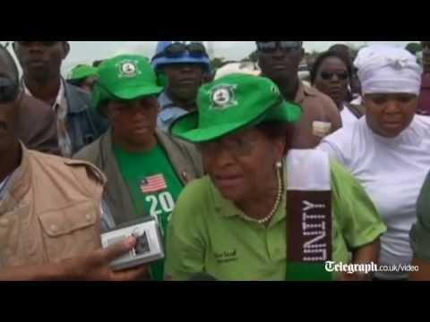 Liberian activist endorses fellow Nobel Peace Prize winner Ellen Johnson Sirleaf for president