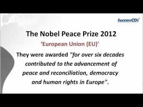 Nobel Prize Winners 2012   Update your General Knowledge