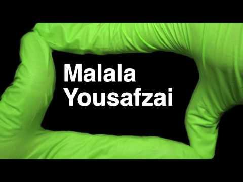 How to Pronounce Malala Yousafzai Nobel Peace Prize Winner