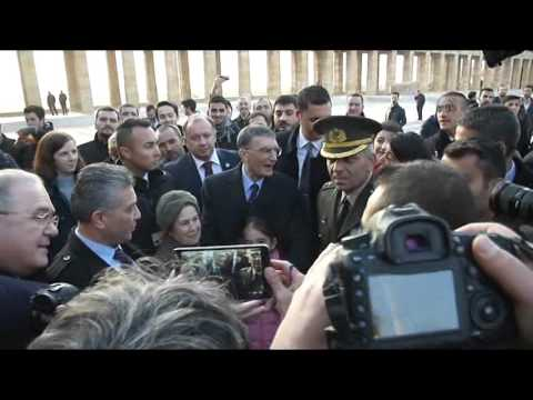 Nobel Prize Winner Aziz Sancar visits Anitkabir in Ankara