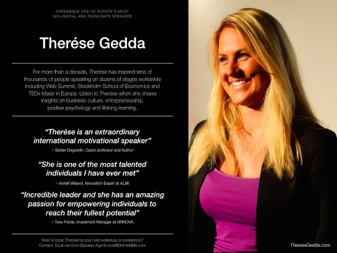 Therese Gedda, Keynote Speaker and Award-profitable Entrepreneur – Speaker Reel