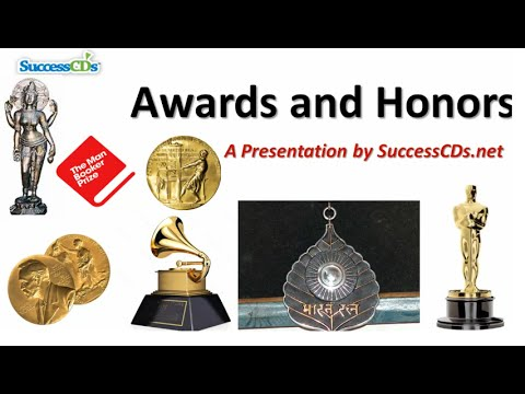 Well-known Awards Prizes and Honours | Common Awareness Films