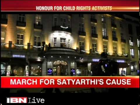 Oslo: Nobel Peace Prize winner Kailash Satyarthi supporters celebrate his get
