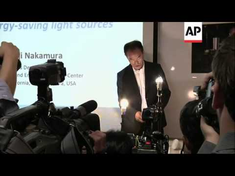 Shuji Nakamura reacts to Nobel prize for Physics win