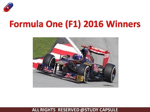 Formula 1(F1) Winners-2016, Study Capsule