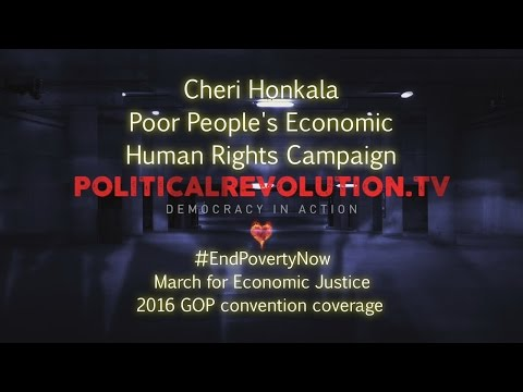 Cheri Honkala – Very poor People's Financial Human Rights Campaign – seven.18.2016 – GOP convention coverage