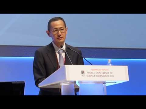 Shinya Yamanaka  answers questions in WCSJ2015. Component 1