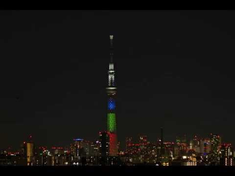 Tokyo Skytree 2014-12-13 Blue LED creation Nobel Prize lights