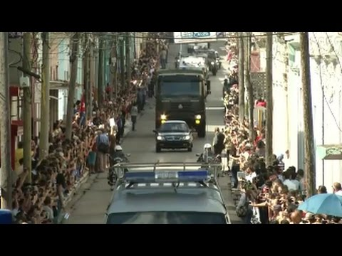 Fidel Castro's ashes pass by way of japanese town of Matanzas