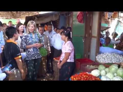 Queen Máxima in Myanmar