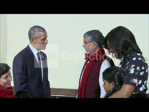 INDIA: OBAMAS Satisfy NOBEL PRIZE WINNER SATYARTHI