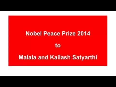 Nobel Peace Prize 2014 to Malala and Kailash Satyarthi