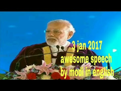 Prime Minister Narendra Modi inaugurated 104th Indian Science Congress at Srinivasa on 3 jan 2017