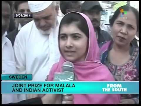 2014 Nobel Peace Prize awarded jointly to Malala and Satyarthi