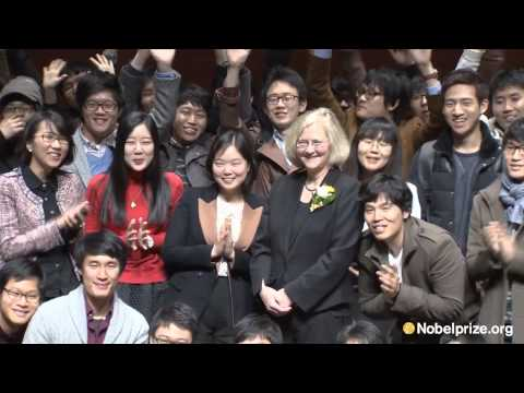 Nobel Laureate, Elizabeth Blackburn, in Seoul, Korea, 2012